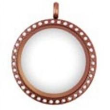 N00-00024 25MM Rose Round Locket Necklace