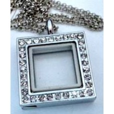 N00-00050 Square Floating Charm Necklace